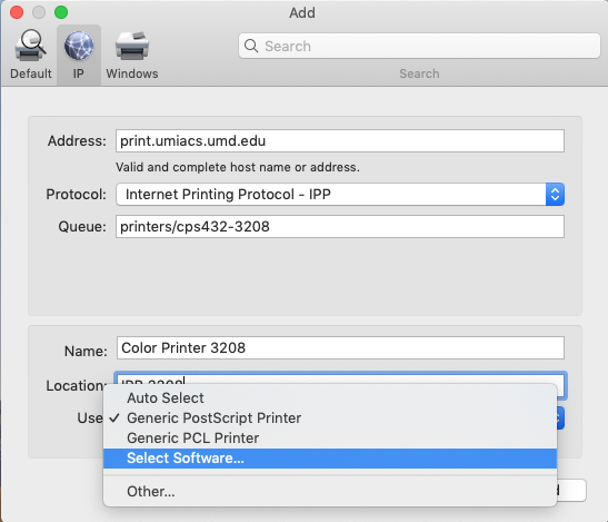 Osx printing select software.png