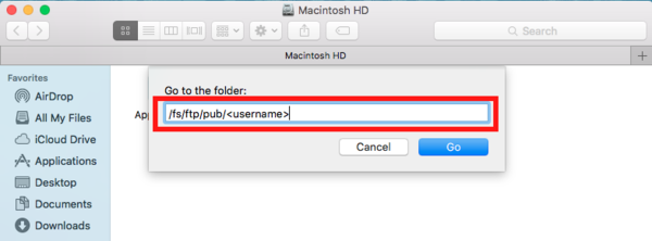 FTP/macOS/Finder - UMIACS