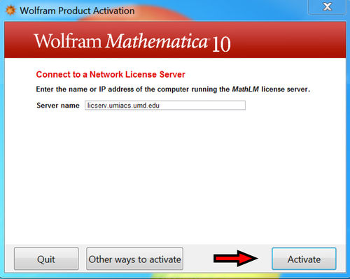 Mathematica 10 Activation Screen 3